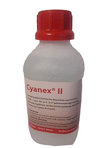 Cyanex das Ideale Holzbleichmittel | für Fachmann und Hobby-Handwerker | gebrauchsfertige Lösung | Bleichmittel Abbeizmittel (Cyanex II | 1 Liter)