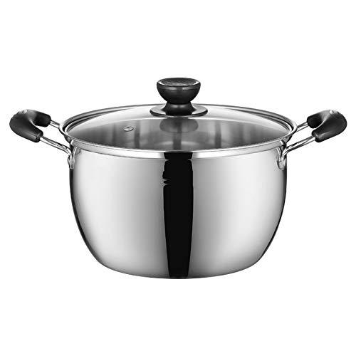 DHXYII Koekenpan Nieuwe Soep Kookpot RVS Huishoudelijke Praktische Hot Pot Slipproof Handvat Hoge Temperatuur Keuken Pot 24cm