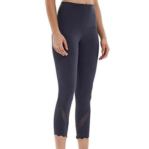 Donna Leggings A Rete Vita Alta Opaco Pantaloni Yoga Con Tasche Allenamento Sportivo Casual Leggins Yoga Pantaloni Corsa Pantaloni Fitness Pantaloni Sportivi A 3/4 Quotidiano Trekking Streetwear Xxl