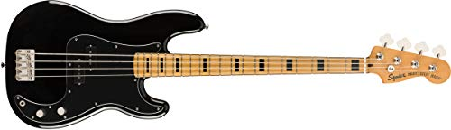 Squier by Fender Classic Vibe 70's Precision Bass - Arce, color negro