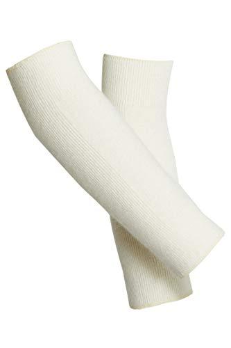 -con-ta- Gelenkwärmer, Wärmewäsche für Knie & Ellenbogen, Winterunterwäsche bei Gelenkschmerzen & Verspannungen, warme Wäsche aus Angora, unisex, in Wollweiß, Größe: M