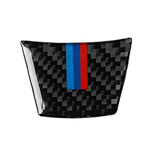 HYCQ Accesorios para B-MW X5 E70 X6 E71 2008~2013 Interior De Fibra De Carbono Decoración Cubierta Embellecedora Cubierta Interior De Coche Decorativa Recorte Cubierta Marco (Color : Steering Wheel)