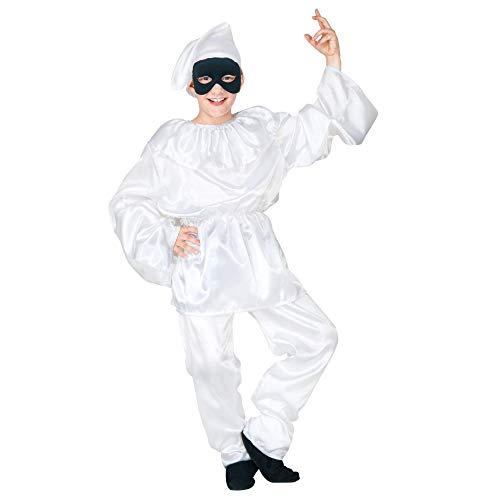 WIDMANN WDM41976 - Costume Per Bambini Pulcinella (128 cm/5-7 Anni), Bianco, XXS
