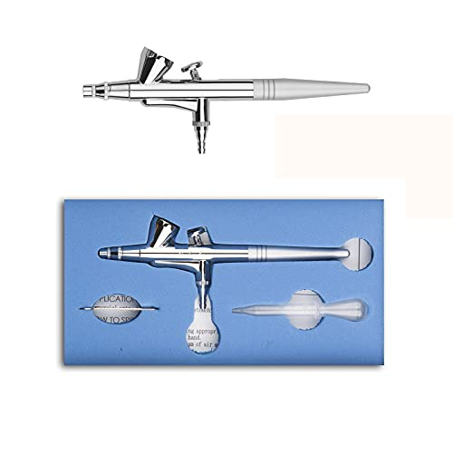 Pinkiou Dual Action Airbrush Kit 0,4mm Nadel Tattoo Spray Werkzeug für Nail Body Makeup Kuchen Spielzeug Aerograph Malerei