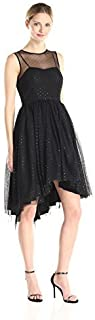 Donna Morgan Women's Sleeveless Sequin Sweetheart Dress with Illusion