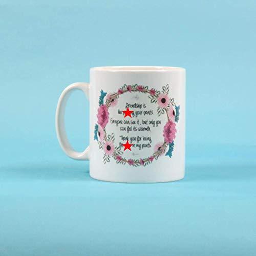 N\A Reife Sweary Mug Freundschaft ist wie Pissen in die Hose Personalisierte Tasse - Freundschaftsbecher - Bester Freund Geschenk (11oz)