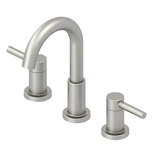 JACUZZI Duncan Brushed Nickel PVD 2-Handle Widespread WaterSense Bathroom Sink Faucet with Drain and Valve Included