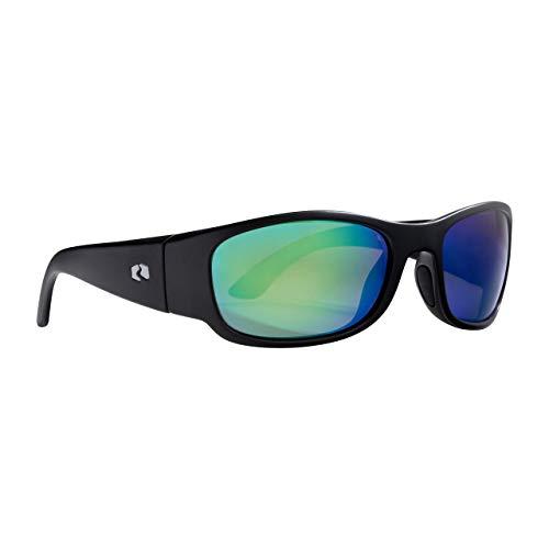 Rheos Bahias Small Sport Style Floating Polarized Sunglasses | 100% UV Protection | Floatable Shades | Ideal for Fishing and Boating | Anti-Glare | Unisex | Gunmetal | Emerald