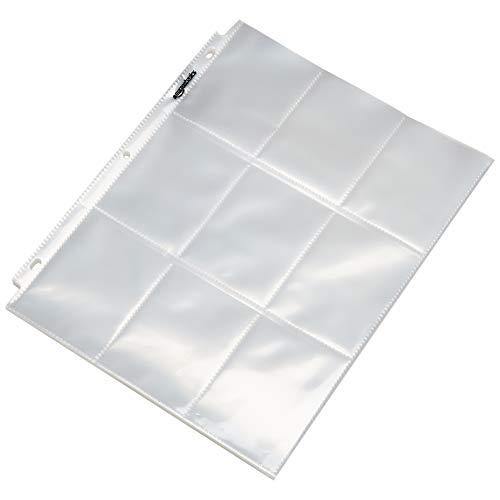 AmazonBasics 9 Sleeve Card Protectors Binder Sheet - Pack of 25
