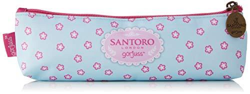 Santoro Gorjuss Estuche A4 Con Asa Unisex - Bambini Portamonete Turchese (Turquoise) 4x33x22 Centimeters (W x H x L)