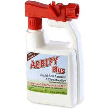 1 Quart with Sprayer Aerify Plus Liquid Soil Aerator and Soil Conditioner Breaks Apart Clay and compacted Soil, Better Than Mechanical Aeration, no Mess, Non-Toxic, pet Safe Formula