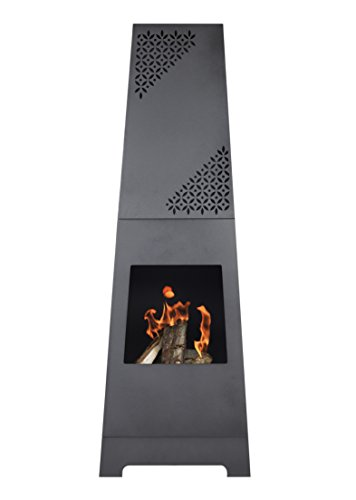 107cm Bronze Steel Chimenea Chiminea with BBQ Grill