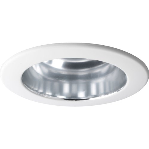 Progress Lighting P8145-21 Clear Alzak Finish Open Trim UL/CUL Listed for Damp Locations, Clear Alzak