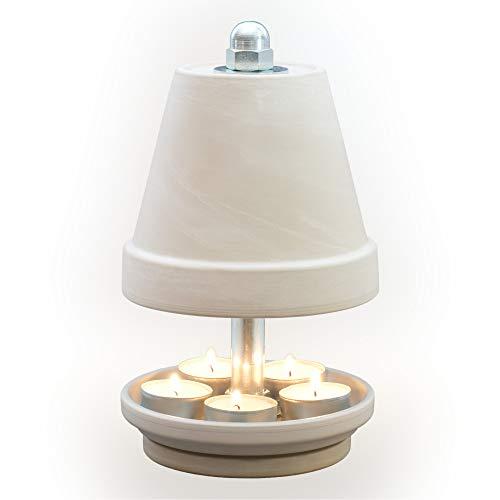 NTS-Serie-Granit- G-M-14-5 Kerzen! Teelichtlampe Teelichthalter Teelichtofen Stövchen Meditationszubehör Kerzenhalter Teelichter + Feuerzeug GRATIS