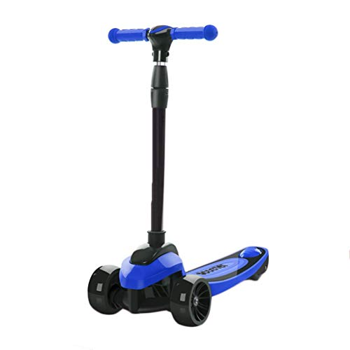 Buy Discount Scooter NLIAN for Kids 3 Wheel, T-bar Adjustable Height Handle Kick Glider Deluxe PU Fl...