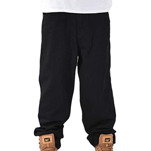 Uomo Hip Hop Cargo Pantaloni Multi Tasche Gamba Larga Jeans Baggy Pantalone da Lavoro Military Viaggio Sport Pantalone con Cerniera