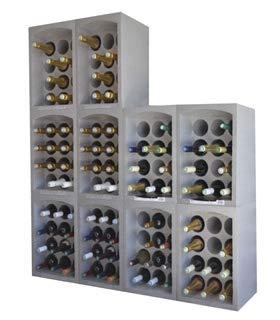 EDA Plastique Pack de casier à Bouteilles Lot de 10 en polystyrène 35 x 29,5 x 50 cm