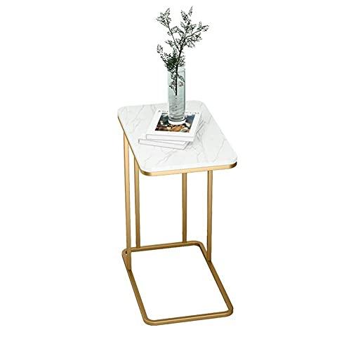 Mesa Mesa Auxiliar movible con polea Mesa de Centro pequeña Elegante Mesa Minimalista Redonda de Hierro Forjado para Oficina/Sala de Estar/área de Ocio/cafetería