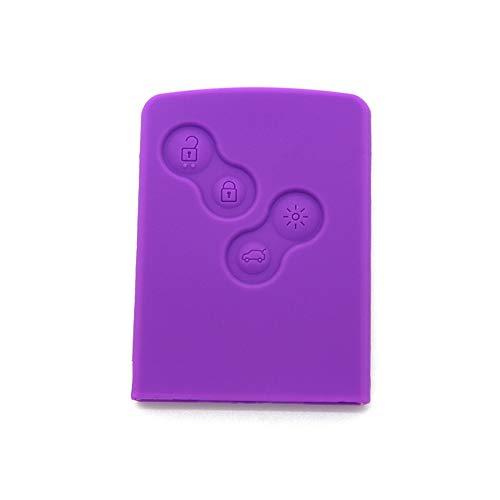 Maidao Smart Car Key Cover For Renault Fluence koleos captur - Silicone Protective Key Fob Cover Purple