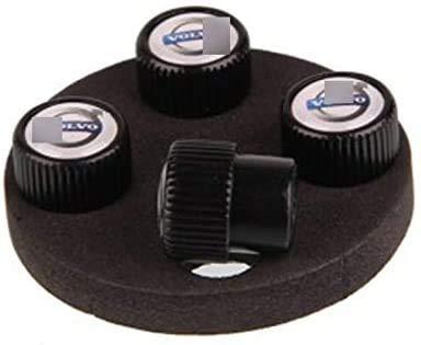 ACLBB 4 Piezas de Tapas vástago válvula neumático de Rueda Coche Tire Stem Valve Caps,para Vol-Vo XC60 XC80 XC90 V40 V60 S60L S80