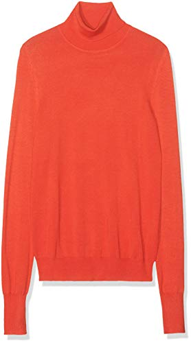 Amazon-Marke: find. Damen Rollkragenpullover, Rot (RED), 36, Label: S