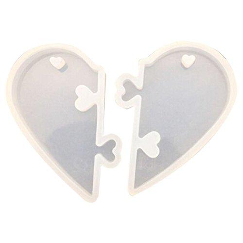 TOOGOO 1 Pieza Cerraduras de Amor para los Amantes Molde de Silicona liquida de Pendiente Molde de la Joya DIY para Resin exopi Molde de Resina UV