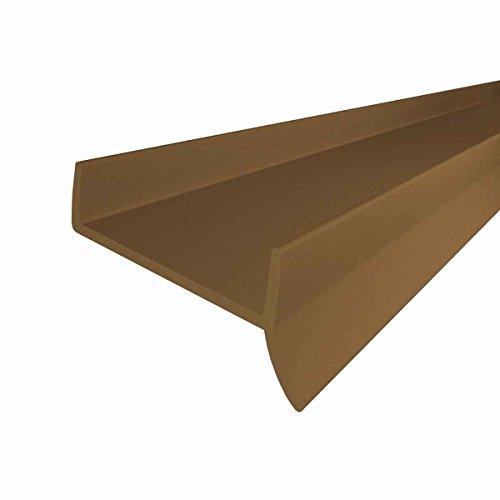 STEIGNER Küchenleiste Küchensockel DPD Abdichtungsprofil Sockel 18mm / 19mm Dichtung erneuern 1,5m Dichtprofil BRAUN