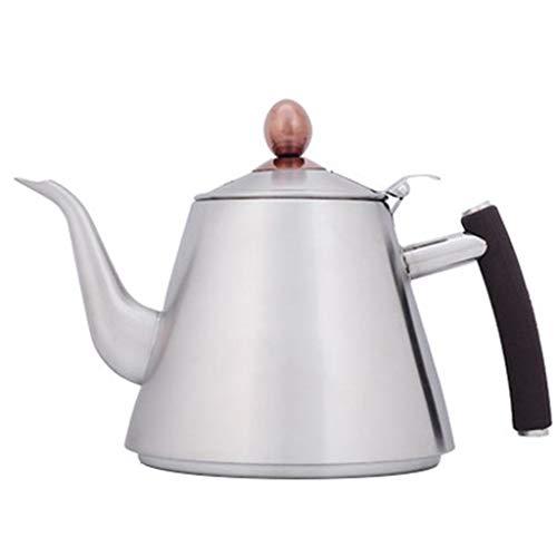 SJQ-coffee pot CafetièRe Bouilloire en Acier Inoxydable 304 4 Tasses de ThéIèRe éPaisse de 42,2 onces