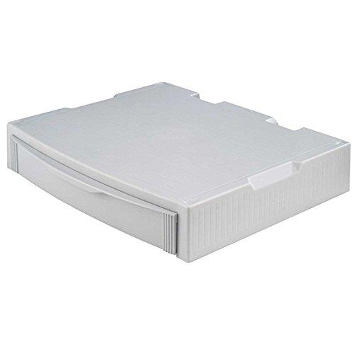 HAN 9250-11, MONITOR STAND, Profi Monitorständer mit 1 Schublade, Stabil, Schick und stapelbar, grau