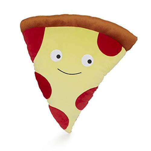 Balvi Cojín Pepperoni Pizza Color Rojo Cojín en Forma Paquete de Pizza con Cara Feliz Cojín Grande, cómodo y extrasuave Poliéster 47x52 cm