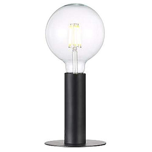 Tischlampe, Tisch-leuchte & Nachttischlampe E27 Schwarz Metall