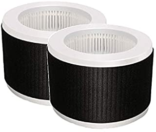 Nispira 3-in-1 True HEPA Replacement Filter Compatible with KOIOS and MOOKA EPI810 Air Cleaner Air Purifier. Odor Eliminator. 3 Stage Filtration. 2 Filters