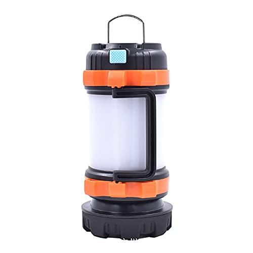 YDJGY LED Linterna Camping,LáMpara de Mano con Luz de Tienda PortáTil Recargable por USB,IPX4 A Prueba de Agua,Luz de Trabajo ABS,Linterna EléCtrica para Senderismo,Pesca,HuracáN,Emergencia