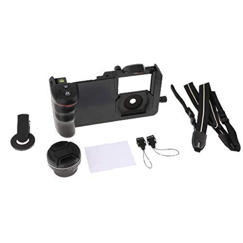 Gazechimp Jaula Estabilizador Rig Set Kit Soporte de Soporte para Teléfono Lente Gran Angular 1/4'