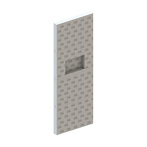 LUX ELEMENTS Duschtrennwandelement inkl. Nische Fertig zum Verfliesen, 240 x 90 x 10 cm, RELAX-TW 900 Set LREL9004, Grau