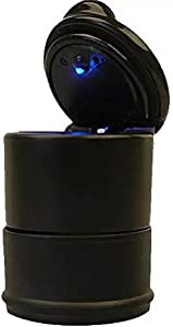 Goliton  LED Portable Car Truck Auto Office Cigarette Ashtray Holder Cup Black
