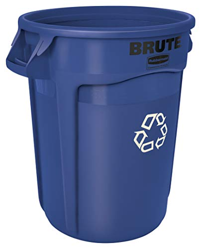 Best Review Of Rubbermaid Commercial Products FG263273BLUE BRUTE Heavy-Duty Round Recycling/Composti...