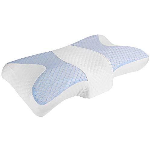 Almohada Cervical Almohada Cervical Ergonómica, Almohada para El Contorno del Dolor De Cuello Almohada Ergonómica para Dormir De Costado, Espalda Y Estómago