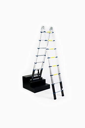 WORHAN® Echelle 5m Télescopique Aluminium Anodisé Modulable Pliable Polyvalente Escabeau Solide 500cm (5m C-Line) K5C