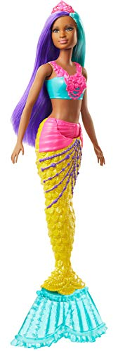 Barbie GJK10 - Dreamtopia Meerjungfrau Puppe (türkis- und lilafarbenes Haar), Spielzeug ab 3 Jahren