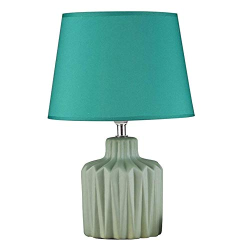 LYYJIAJU Moderne mediterrane stijl tafellamp met LED-nachtlampje blauw keramiek blauw voor woonkamer slaapkamer nachtkastje werkkamer