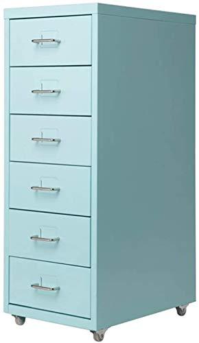 Gabinete de información para archivador de archivos, archivador de vale financiero, gabinete bajo de metal (color: azul, tamaño: 0,7 mm)