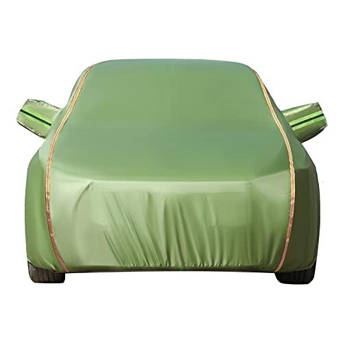 ASY Cubierta de Coche Impermeable Fundas para Coches Compatible con Ford Fiesta Focus Fusion Exterior Automóviles Cubierta Tarpa de Coche Transpirable Anti-Granizo de Oxford con Tiras Reflectantes