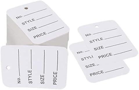10 X cadenas de marca de moda de una sola vez hilos de bloqueo para la ropa etiquetas de precios Threads