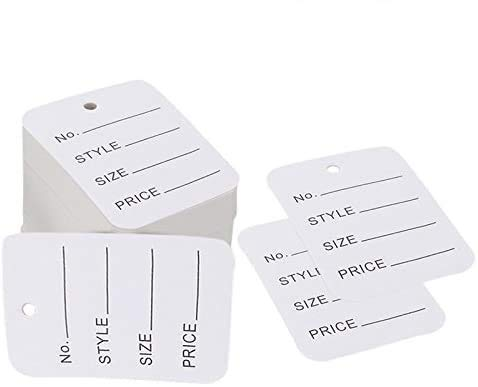"1000 PCS Price Tags, Clothes Size Tags Coupon Tags Making Tag White Store Tags Clothing Tags, 1.94"" X 1.38"""