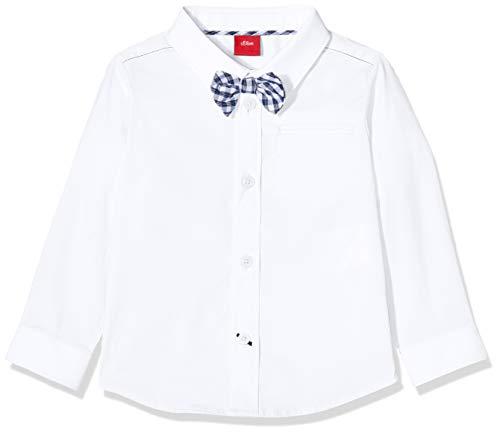s.Oliver Baby-Jungen 59.911.21.4377 Hemd, Weiß (White 0100), (Herstellergröße: 92)