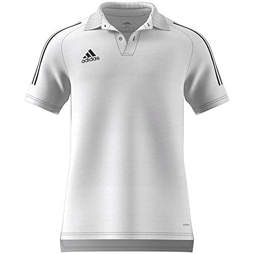 adidas CON20 Polo, Hombre, Blanco/Negro, S/L
