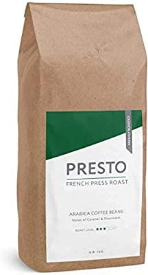Presto Coffee Beans – Cafè Brazilian - Light Roast Whole Coffee Beans 1KG - Smooth Arabica - Perfect Bean to Cup Coffee Machine - Great Taste Award Winner 2019 - (1 x 1KG)