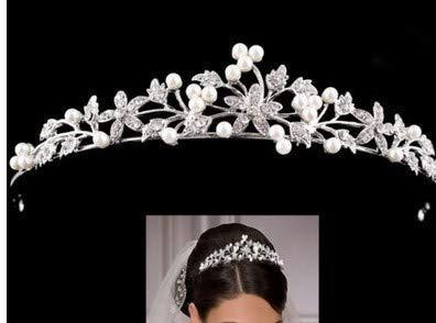HESHIFENG. party & accessories Braut Strass Diadem Perlen Krone Haarband Haarschmuck für Hochzeit (Style3)