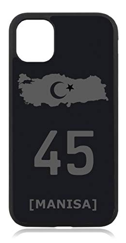 Kompatibel mit Samsung Galaxy S20 Ultra Türkiye Türkei 45 Manisa Mattschwarz Schwarz Silikon Handyhülle Hülle Hülle Cover